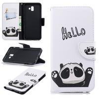 Patt PU kožené pouzdro na mobil Samsung Galaxy J6+ - hello panda