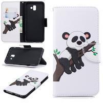 Patt PU kožené pouzdro na mobil Samsung Galaxy J6+ - panda na stromě