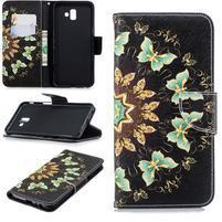 Patt PU kožené pouzdro na mobil Samsung Galaxy J6+ - motýlci
