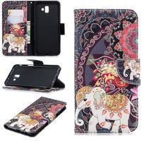 Patt PU kožené pouzdro na mobil Samsung Galaxy J6+ - slon