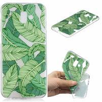 Print gelový obal na mobil Samsung Galaxy J6+ - zelené listy