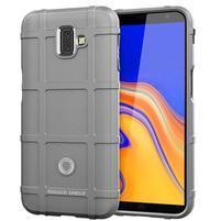 Square gelový obal na mobil Samsung Galaxy J6+ - šedý
