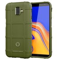 Square gelový obal na mobil Samsung Galaxy J6+ - zelený