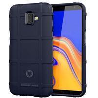 Square gelový obal na mobil Samsung Galaxy J6+ - tmavěmodrý