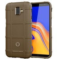 Square gelový obal na mobil Samsung Galaxy J6+ - hnědý