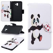 Patt PU kožené pouzdro na mobil Samsung Galaxy J6+ - fotbalová panda