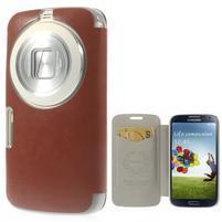 Hnědé peněženkové pouzdro na Samsung Galaxy K Zoom C115
