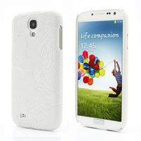 Květinové pouzdro na Samsung Galaxy S4 - bílé