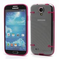 Obal na mobil se svítícími hranami na Samsung Galaxy S4 - rose