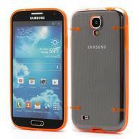 Obal na mobil se svítícími hranami na Samsung Galaxy S4 - oranžové