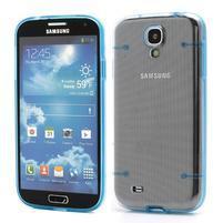 Obal na mobil se svítícími hranami na Samsung Galaxy S4 - modré