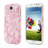 Květinové pouzdro na Samsung Galaxy S4 - růžové