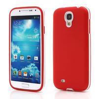 Gelové pouzdro 2v1 na Samsung Galaxy S4 - červené