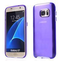 Dvoudílný obal na mobil Samsung Galaxy S7 - fialový