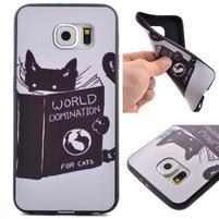 Jells gelový obal na Samsung Galaxy S7 - kočička