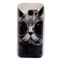 Gelový kryt na mobil Samsung Galaxy S7 - kočka mafián