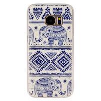 Gelový kryt na mobil Samsung Galaxy S7 - sloni