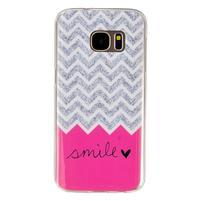 Gelový kryt na mobil Samsung Galaxy S7 - smile