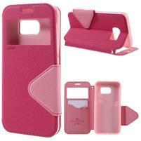 Diary pouzdro s okýnkem na Samsung Galaxy S7 - rose