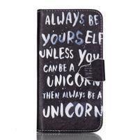 Cross peněženkové pouzdro na Samsung Galaxy S7 - unicorn