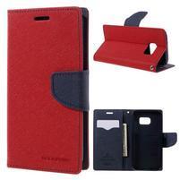 Goosper PU kožené pouzdro na Samsung Galaxy S7 - červené