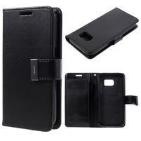 Luxury PU kožené pouzdro na Samsung Galaxy S7 - černé