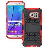 Outdoor odolný obal na mobil Samsung Galaxy S7 - červený