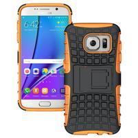 Outdoor odolný obal na mobil Samsung Galaxy S7 - oranžový