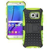Outdoor odolný obal na mobil Samsung Galaxy S7 - zelený