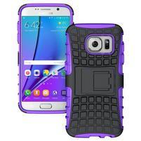 Outdoor odolný obal na mobil Samsung Galaxy S7 - fialový