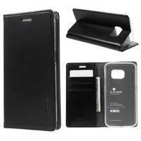 Bluemoon PU kožené pouzdro na mobil Samsung Galaxy S7 - černé