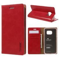 Bluemoon PU kožené pouzdro na mobil Samsung Galaxy S7 - červené