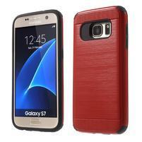 Dvoudílný odolný kryt na Samsung Galaxy S7 - červený