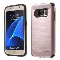 Dvoudílný odolný kryt na Samsung Galaxy S7 - zlatorůžový