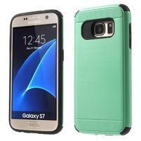 Dvoudílný odolný kryt na Samsung Galaxy S7 - cyan