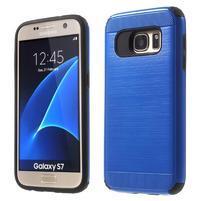 Dvoudílný odolný kryt na Samsung Galaxy S7 - modrý