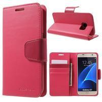 Sonata PU kožené pouzdro na Samsung Galaxy S7 - rose