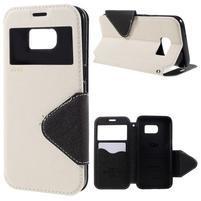 Diary pouzdro s okýnkem na Samsung Galaxy S7 - bílé