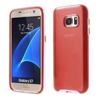 Dvoudílný obal na mobil Samsung Galaxy S7 - červený