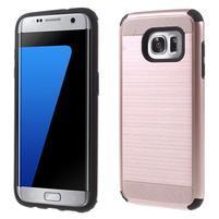 Odolný dvoudílný obal na Samsung Galaxy S7 edge - zlatorůžový