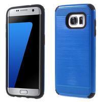 Odolný dvoudílný obal na Samsung Galaxy S7 edge - modrý