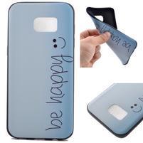 Backy gelový obal na Samsung Galaxy S7 edge - be happy