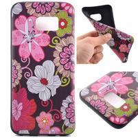 Backy gélový obal pre Samsung Galaxy S7 edge - kvety