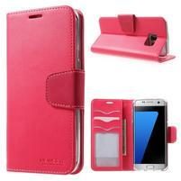 Rich PU kožené pouzdro na Samsung Galaxy S7 edge - rose