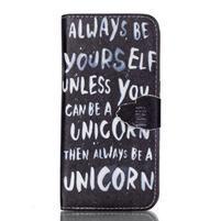 Cross peněženkové pouzdro na Samsung Galaxy S7 edge - unicorn