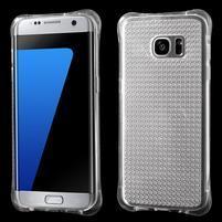 Glitter gelový obal na Samsung Galaxy S7 edge - transparentní