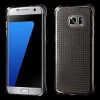 Glitter gelový obal na Samsung Galaxy S7 edge - šedý