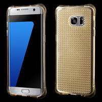 Glitter gelový obal na Samsung Galaxy S7 edge - zlatý