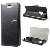 Horse PU kožené zapínací pouzdro na Samsung Galaxy S9 - černé
