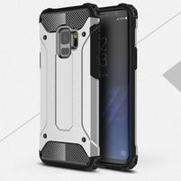 Armory odolný hybridní obal na Samsung Galaxy S9 - stříbrný
